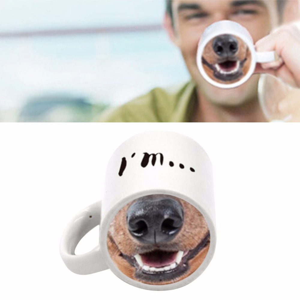 Animal Coffee Cups Us 13 91 Funny Cute Design Animal Nose Ceramic Tea Coffee Cup Special Home Office Milk Tea Cups Mugs Drinkware Best Gift In Mugs From Home Garden
