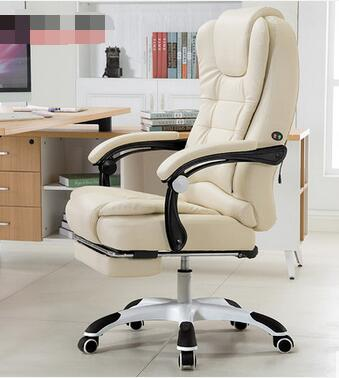 Купить с кэшбэком Can lie office chair USB massage foot leather chair