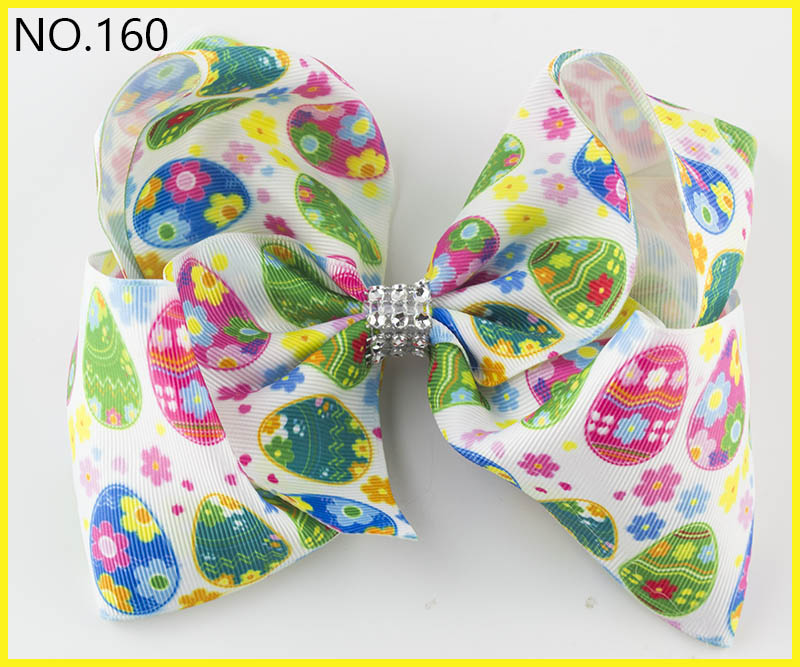 free shipping 120pcs Easter Hair Bow Bunny Hair Bow easter Bows egg hair bow chick hair