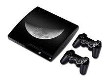 Luna Piel Del Vinilo del PVC Calcomanías Pegatinas Para PS3 Slim Consola y Los Controladores