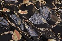 Color chain transparent silk fabric dresses tweed scrapbooking printing Party satin lace tissu african fabric Scarf costura A210