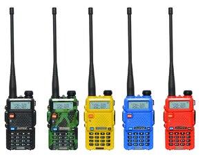 Image 2 - 2 adet 8W Baofeng UV 5R radyo seti Walkie Talkie UV 5R UV5R iki yönlü radyo istasyonu verici USB dişi yumuşak anten 771