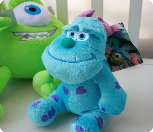 20/30/40 cm Monster Mike Wazowski & James P. Sullivan Stuffed Plush Toy Gift For Kids 1pc 7 8 monsters inc monsters university monster mike wazowski and james p sullivan plush toy for kids gift