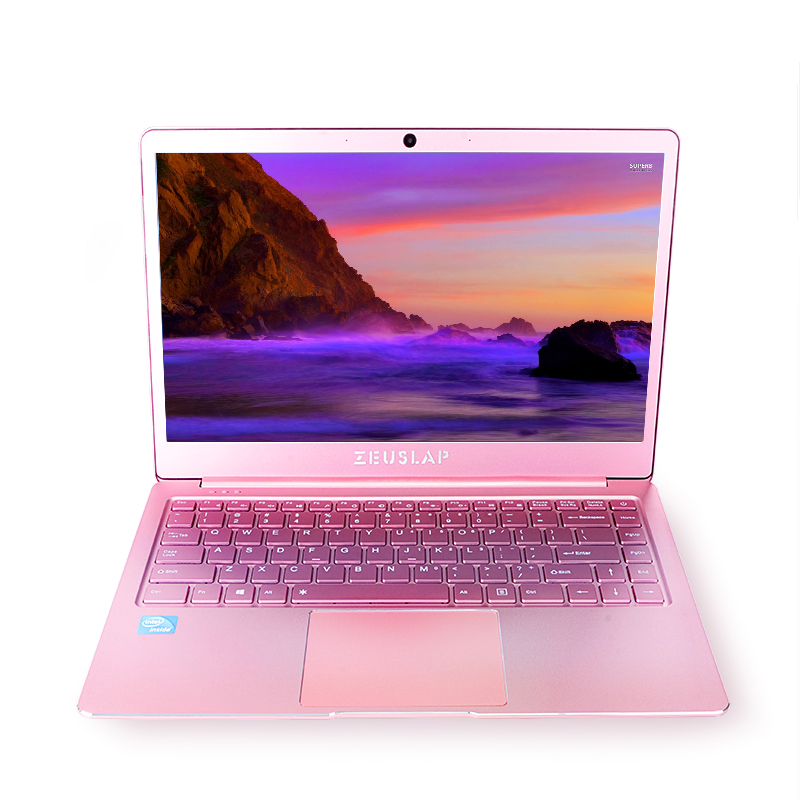 14 pollici di Colore Rosa Ultrasottile In Metallo Del Computer Portatile 6 gb di RAM 512 gb SSD Intel Quad Core CPU 1920X1080 p Finestre 10 Sistema di Computer Notebook