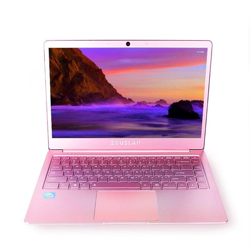 14 pouces Rose Couleur Ultra-Mince En Métal Portable 6 gb RAM 512 gb SSD Intel Quad Core CPU 1920X1080 p Windows 10 Système Ordinateur Portable