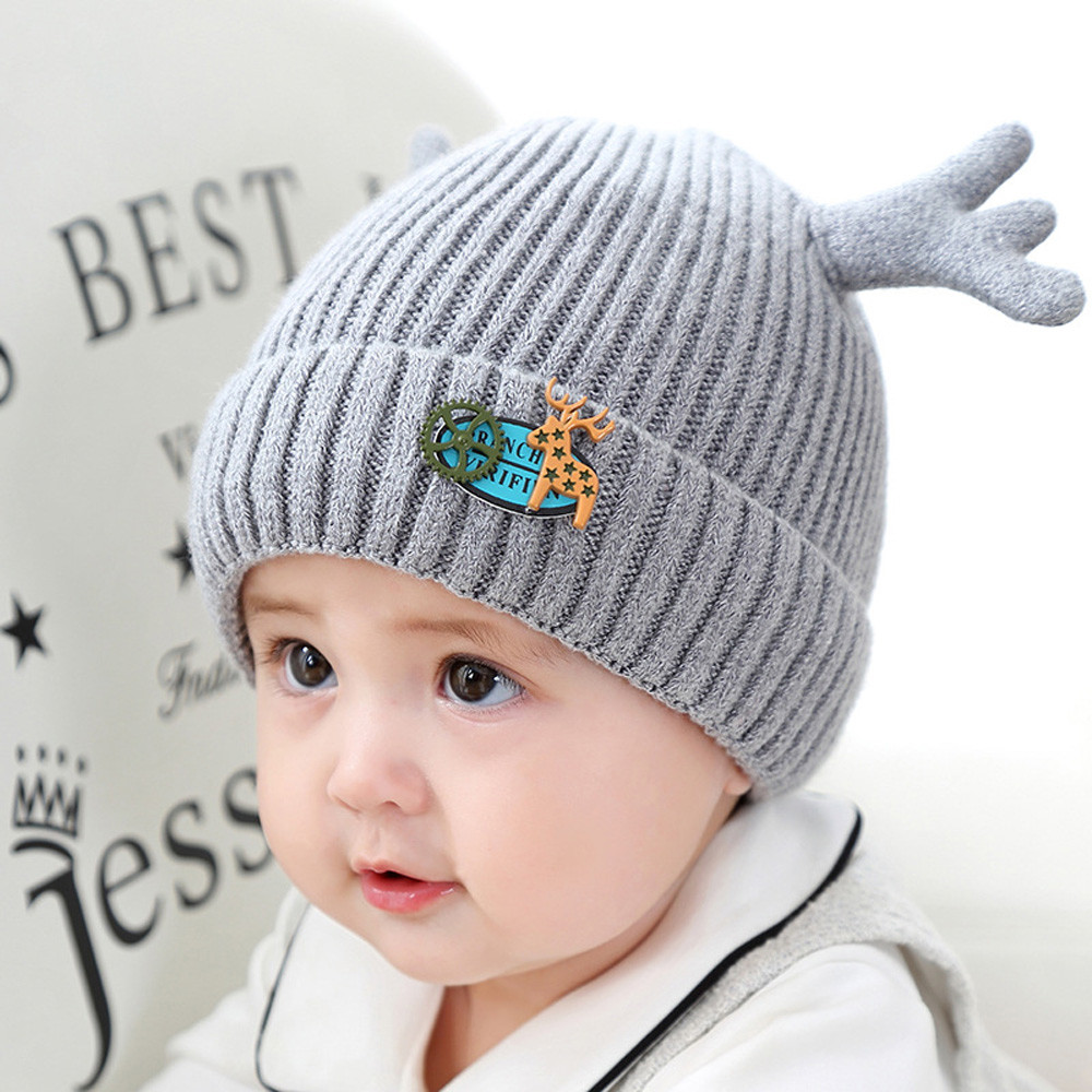 Baby Babies Boys Girls Wooly Knitted Winter Beanie Hat Christmas Xmas Novelty