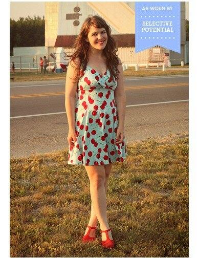 31ccb9de9 Sexy vestido azul claro con gran puente rojo cereza