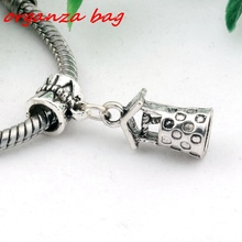 Hot ! 15pcs Antique silver Wishing Well charm Beads Fit Charm Bracelets 9 x 27.5mm DIY Jewelry (nm506)