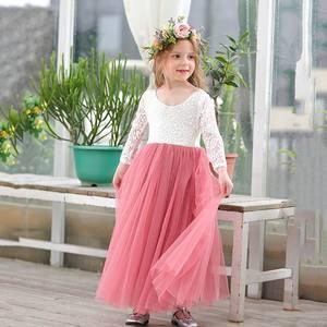 Image 5 - Robe princesse en dentelle blanche, longueur cheville, robe de soirée pour enfants, dos avec cils, E15177