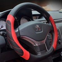 CHIZIYO 38cm Universal Micro Fiber Leather New D Ring Steering Wheel Cover Auto Fashion Flat Steering