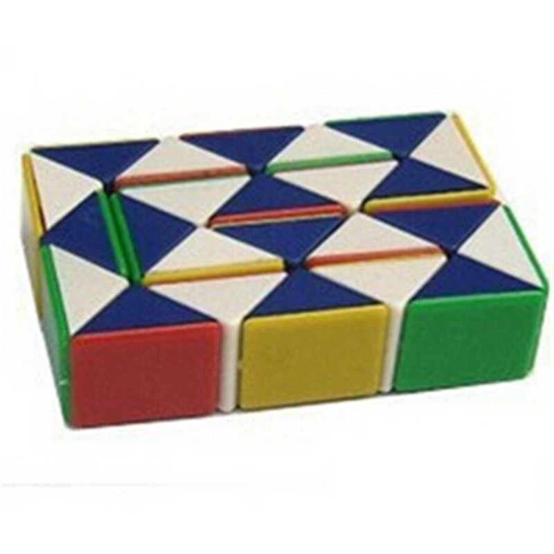Lovely Colors Magic Cubes Hot Retro Educational Intelligence Toys Twist Snake Cube Puzzle Magic Toy For Kids Gifts Magic Cubes