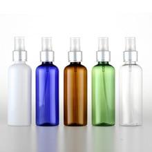 2pcs 100ml spray bottle Electrolytic Aluminum Nozzle Round shoulder bottle Cosmetic plastic bottle Sub-bottle wholesale BQ124 все цены