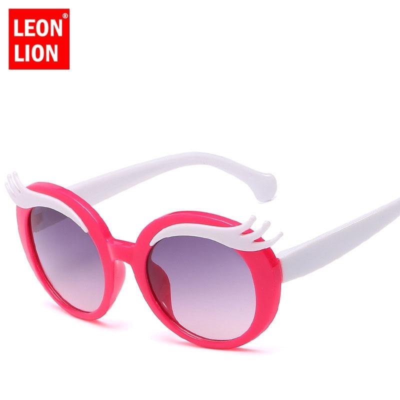 LeonLion 2018 Fashion Cartoon Sunglasses Children Travel Outdoor Shopping Silica Gel Glasses Candy Color Goggles Oculos De Sol