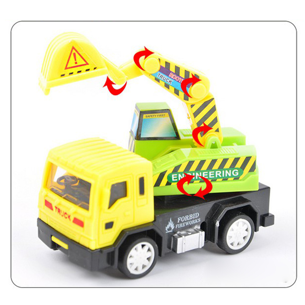 Diecast Multi Kinds Cartoon Mini Pull Back Plastic Car Truck Model Gift For Children Kids Funny Toy