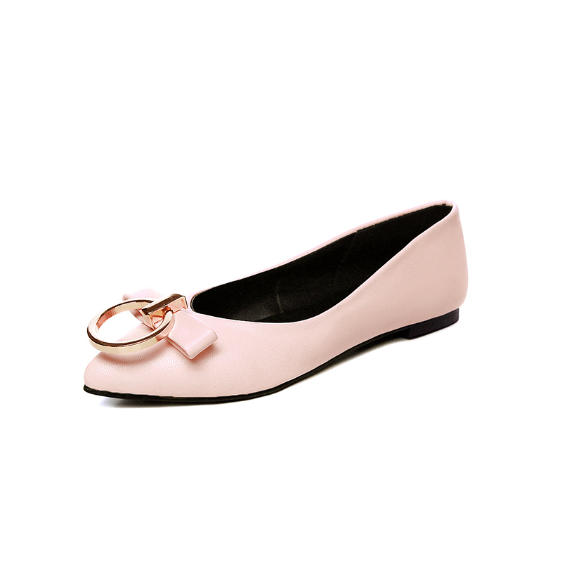 Spring/Autumn Women Shoes Flats Casual Fashion Pointed Toe Slip-on Solid Shallow Concise Butterfly-knot Lazy Shoes Big Size enmayer pointed toe summer shallow flats slip on luxury brand shoes women plus size 35 46 beige black flats shoe womens