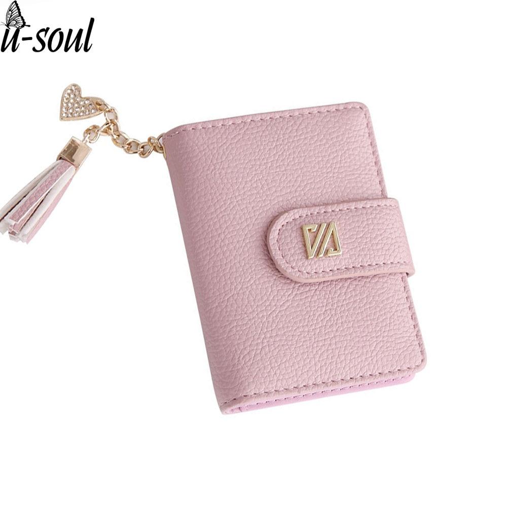 20 Card Slots Women Card Holders Fashion Tassel Pink Credit Card Holder Wallet Women Business Card Holder A3389