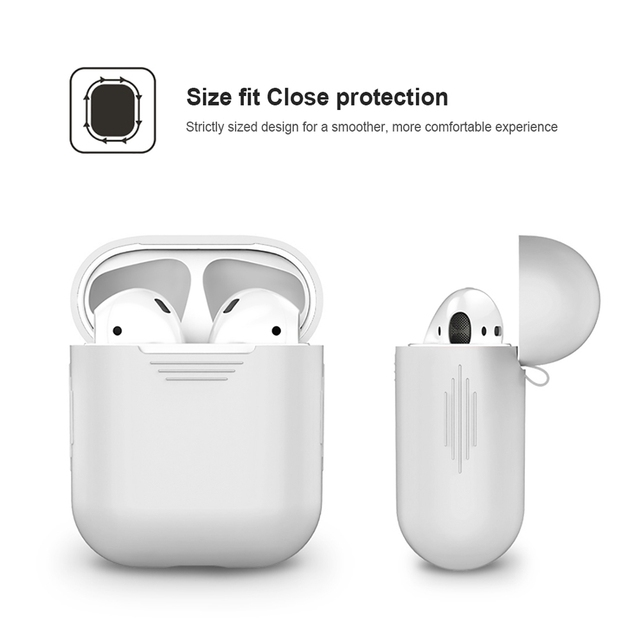 1PCS TPU Silicone Bluetooth Wireless Earphone Case For AirPods Protective Cover Skin Accessories for Apple Airpods Charging Box 4
