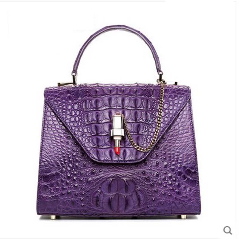 2018 hlt Thai crocodile women handbag female new crocodile leather fashion lipstick slanting single shoulder women bag dadi1 dadi hlt 102