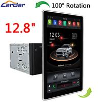 Carbar 12.8 Tesla Style Rotation IPS Screen 2 Din Universal Android 8.1 Car DVD GPS Player Radio Car Stereo Voice Control