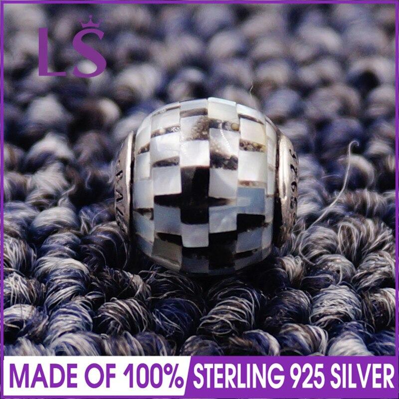 LS High Quality 100% S925 Silver Essence Balance Charm Beads Fit Original Essence Bracelets Pulseira Essencia.Fine Jewlery
