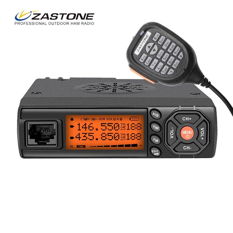 Zastone Z218 Mobile Walkie Talkie 10 km 25W Dual Band VHF UHF 136 174mhz 400 470mhz