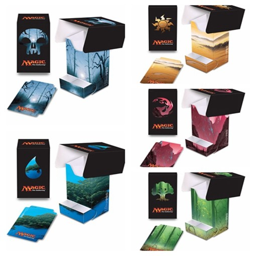 Ultra Pro Unhinged Lands Cards Deck Case, John Avon Painting Deck Box for MGT/PKM/YGO image