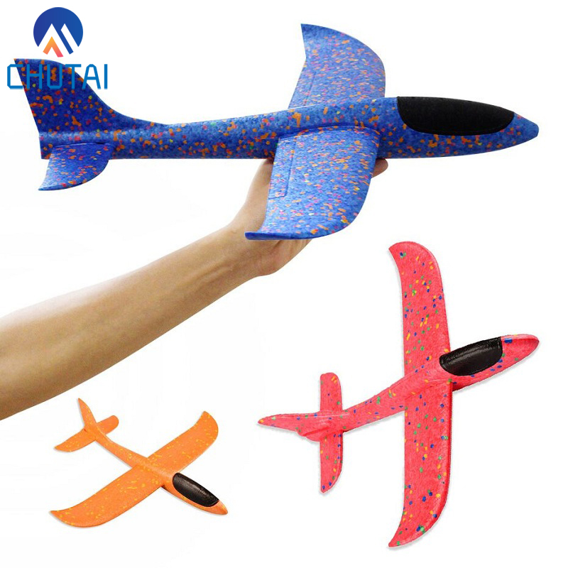 36/49CM EPP Throwing Flying Foam Airplane <font><b>Aircraft</b></font> Hand Launch Free Fly Plane Hand Throw Plane Puzzle <font><b>Model</b></font> Toys for Kids Child image