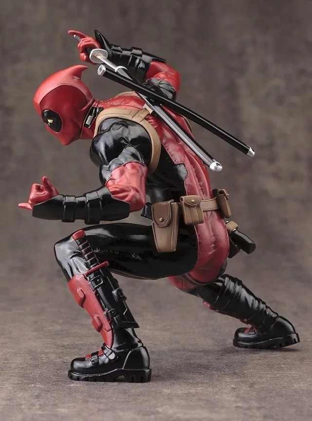 Anime Super Hero Figuras de Ação Sentado X-Men Deadpool Figuras PVC Vermelho Cinza X-men Figura Boneca Brinquedos decoração Estatueta Modelo