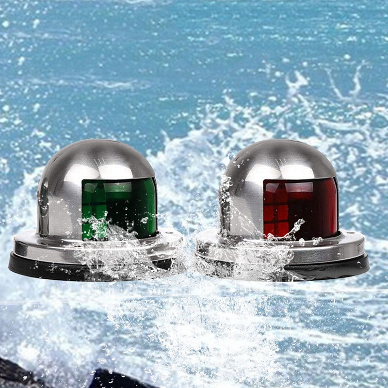 Rowing Boats Accessories 2019 New Sailing Signal Navigation Lamp  Stainless Steel LED Bow Red Green Light For Marine Yacht Ponto