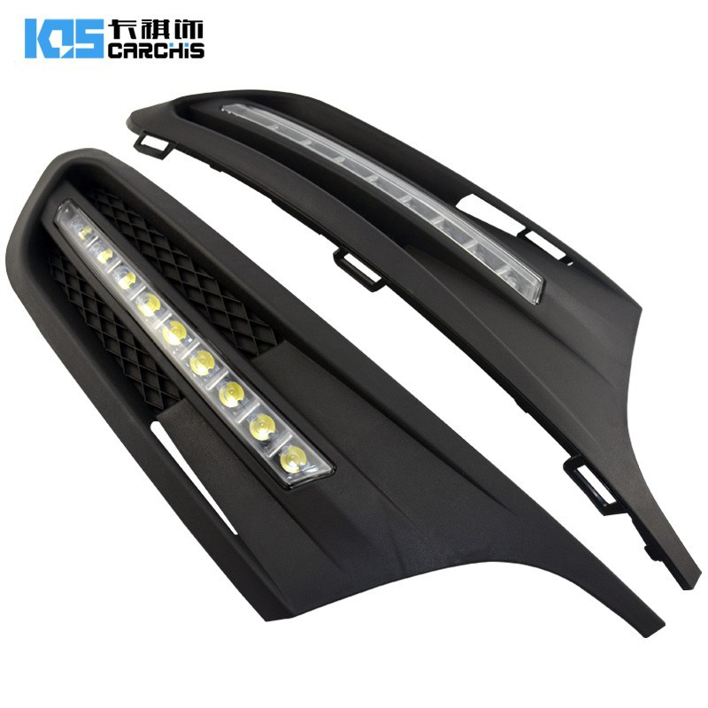 eOsuns LED DRL daytime running light fog lamp for Volkswagen VW Jetta Sagitar 2012, wireless switch control, dim control for vw jetta 5 jetta mk5 2006 2007 2008 2009 2010 2011 new 9 led drl daytime running light fog light fog lamp
