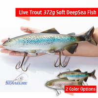 Seanlure Super Simulate 372g Soft Bait Deep Sea Fish 30cm Big Size Lure Fishing Tackle