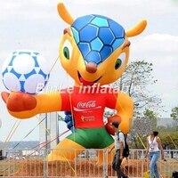 Горячая Распродажа 5mH гигантские надувные Кубка мира талисман для футбола/Футбол события
