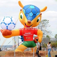 Hot sale 5mH giant inflatable World Cup mascot for football/soccer events