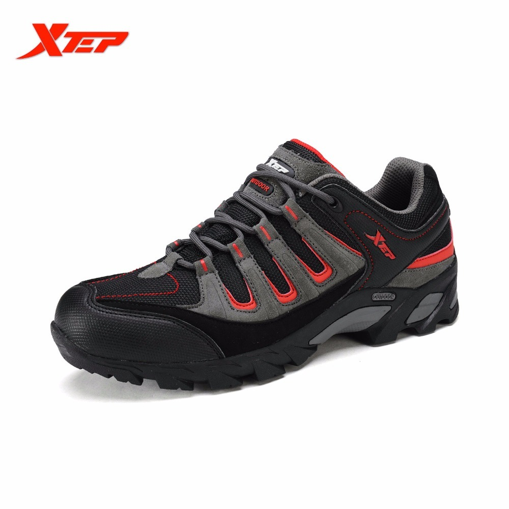 XTEP Mens Waterproof Outdoor Hiking Climbing Boots Autumn Winter Rubber Sneakers Trail Hiker Athletic Sports Shoes