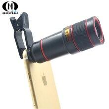 8x12 Mobile Phone Monocular Long Focus Lens Telescope Digital Camera Universal Optical Clip For iPhone