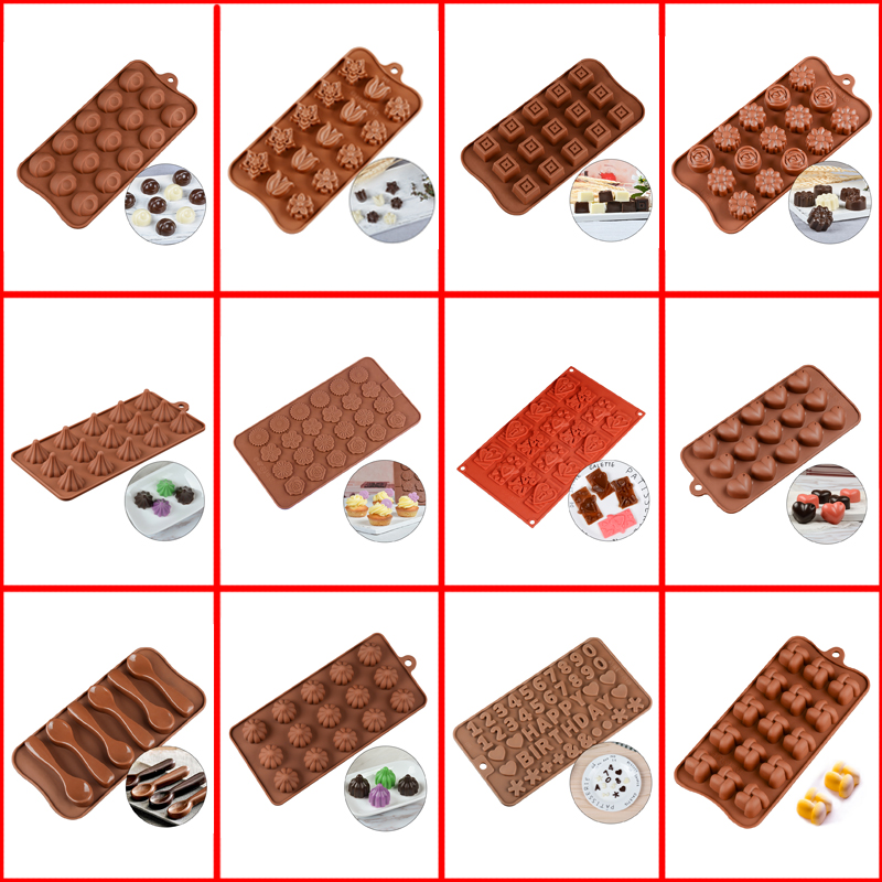 SILIKOLOVE Chocolate Molds Cake Decorating Tools 3D Candy Gummy Silicone Mold Dessert Mold DIY Baking Cookie Tray For Cake Craft