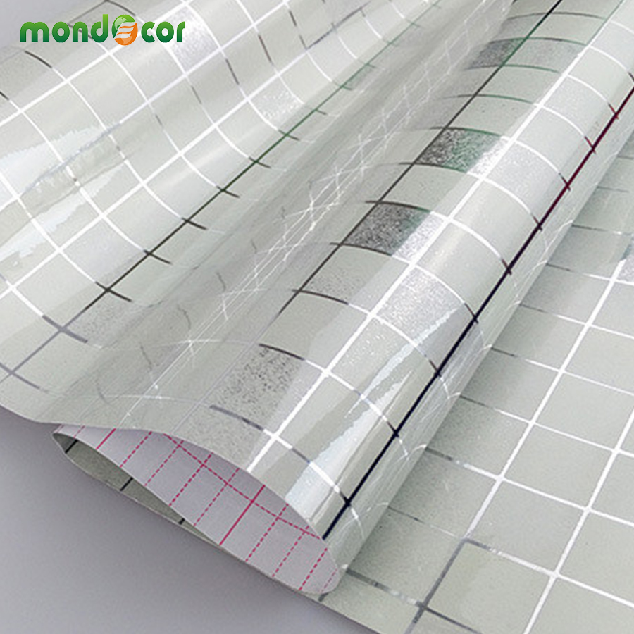 0 45mx5m Kitchen Mosaic Tile Wall Covering Home Decor Wall Stickers Roll Wallpaper Furniture Paper Self Adhesive Film Wardrobe