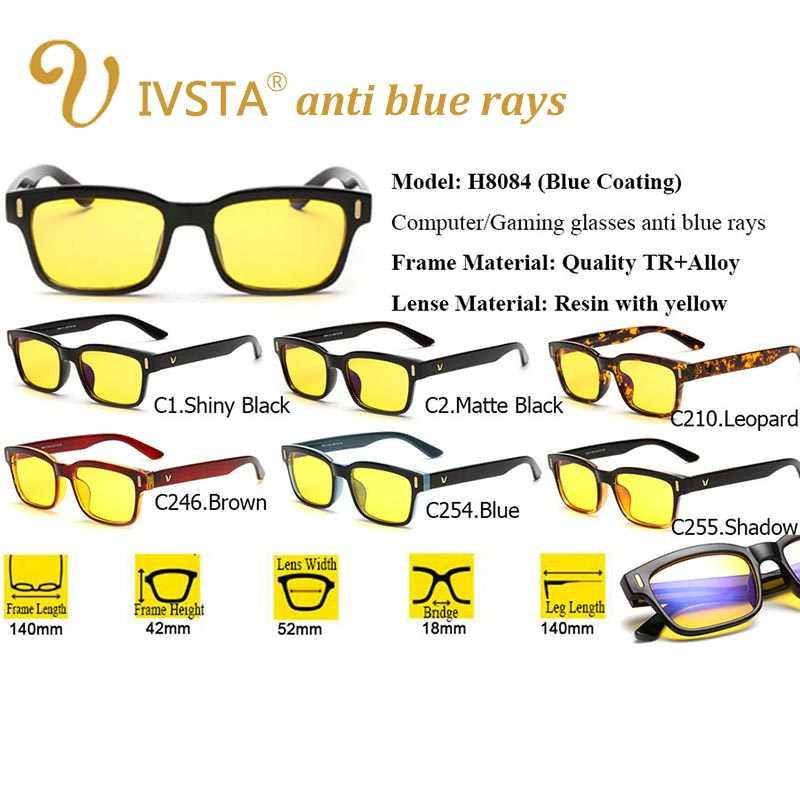 61e30461e8 ... IVSTA Juegos de ordenador gafas mujeres Anti deslumbramiento Anti azul  radiación de rayos UV400 amarillo lentes ...