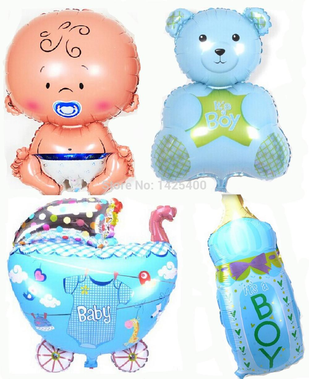Free shipping new baby - baby - Bears - bottle balloon 4pcs-lots of children's toys Birthday balloon wholesale