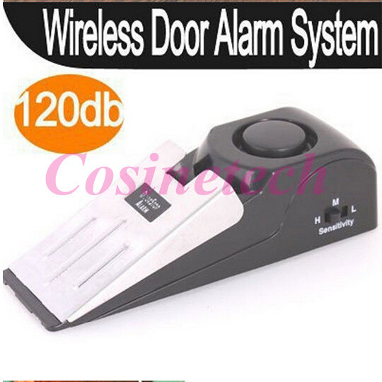 120 dB door stop alarm Wedge Shaped Stopper Alarm home use,travel door Block Blocking Systerm Security travel door Alarm System 120db door stop alarm home security wedge shapped stopper blocking system for travelling