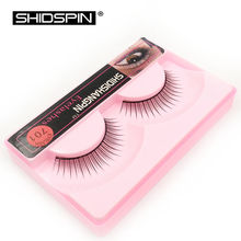 Hot 1 pair Natural False Lashes Make Up Black False Eyelashes Eyelash Extension Makeup Fake Eyelashes P701(China)