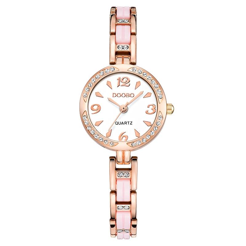 DOOBO luksusowa Moda damska zegarki zegarek kwarcowy bransoletka - Zegarki damskie - Zdjęcie 3