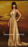 2016 Natural Taffeta Evening Dresses Vestido Longo Best Seller New Style Seiier Sexy Bride Wedding Custom Size Draped Prom Dress