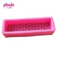 Bloque rectangular con rosas en forma de eco-friendly hecho a mano jabones y velas moldes de silicona moldes del chocolate