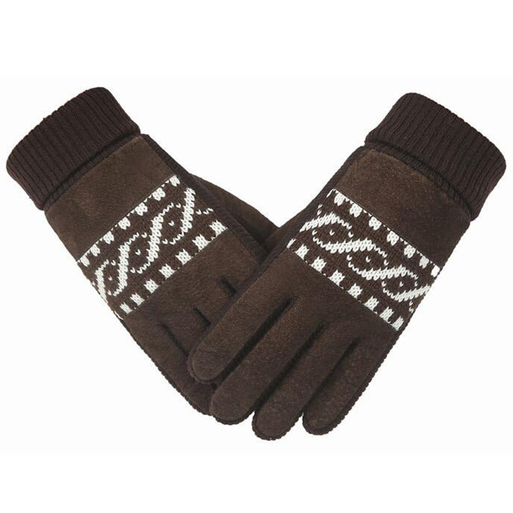 Knitted Gloves Touch Screen High Quality Male Thicken Warm Wool Cashmere Mittens