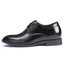 Платье мужчин Высота Увеличение повышенные туфли получить выше 7 см незаметно для вечеринки, свадьбы, повседневной