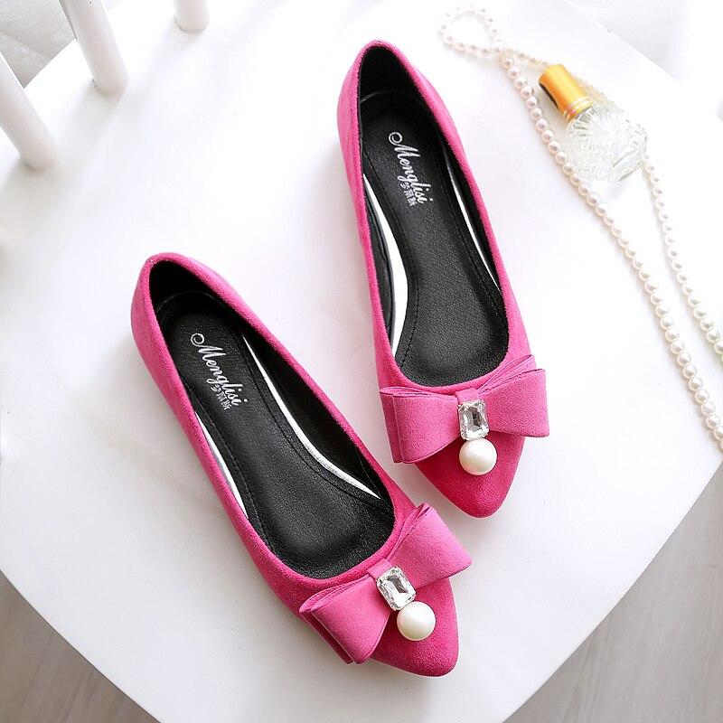 Ballets Confortable Plus Chaussures Rose Purple Flock Bout Femme 516 Taille Casual Black Appartements Coréen La 2019 mls Dames Femmes Red Mls Perle mls Pointu Cristal Bateau 17 ZqwcTC7