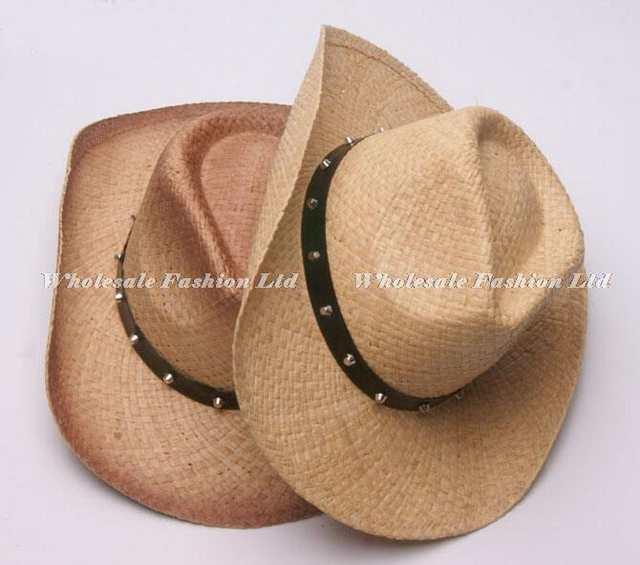 placeholder 6pcs New Style Men Cowboys Straw Hats Best Mens Western Nature  Raffia Straw Hat Fashion Women 0e720a98a3c2