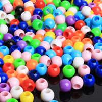 100 stücke perlen für kinder kinder mädchen geschenke kreative handwerk zubehör schmuck für kinder kinder kralen spielzeug 7 jahre diy perlen