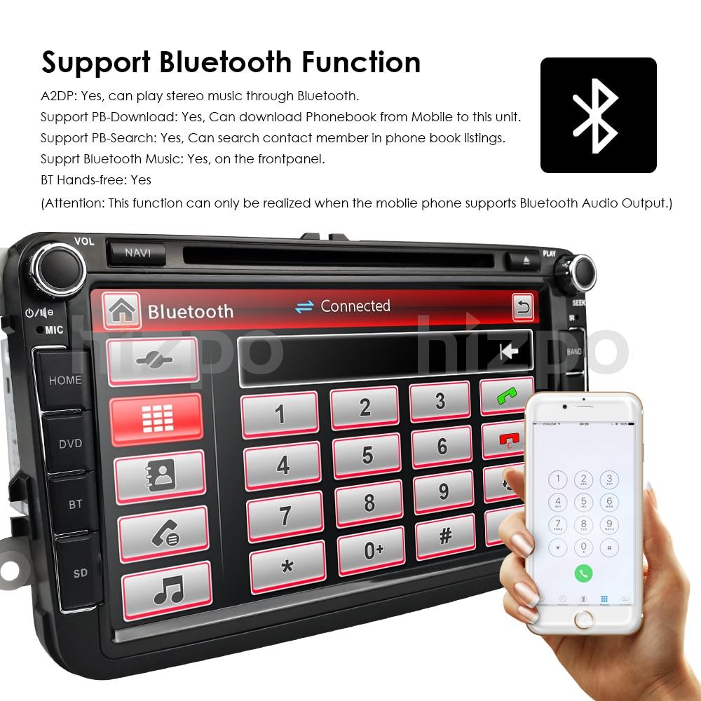 Best 2Din 8Inch Car DVD Player For VW POLO PASSAT Golf Skoda Octavia SEAT LEON DAB SWC Radio GPS Navigation 1080P FM Free Camera Maps 11
